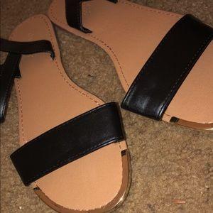 Black/Gold Charlotte Russe Sandals